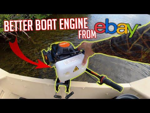 $300 eBay outboard motor | Unboxing, Assembly & Taking it Fi
