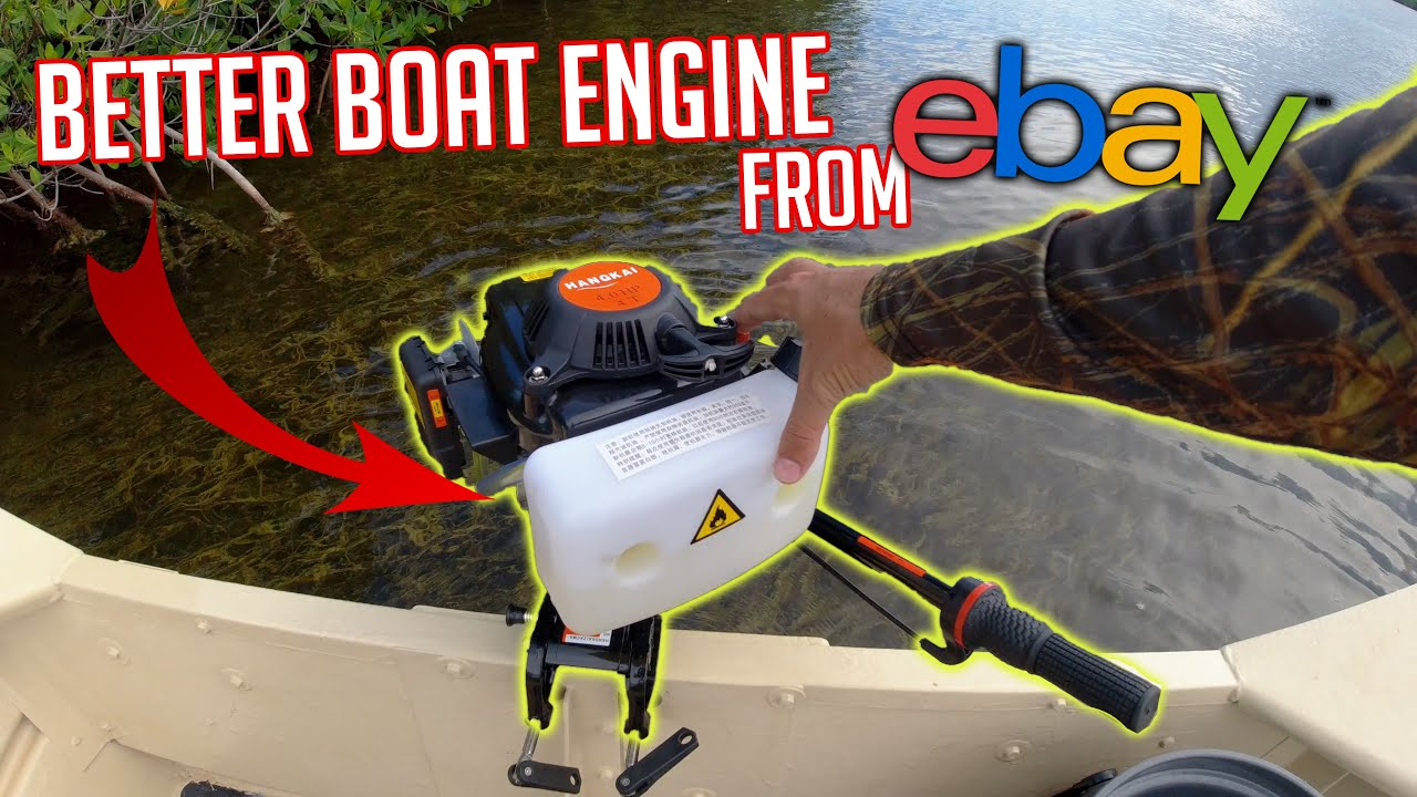 $300 eBay outboard motor | Unboxing, Assembly & Taking it Fishing!