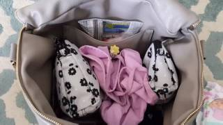 Fawn Design diaper bag packed for a potty training toddler♡