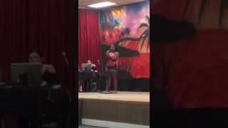 12 year old Nevaeh Young blows karaoke out of the water singing Whitney Houston!