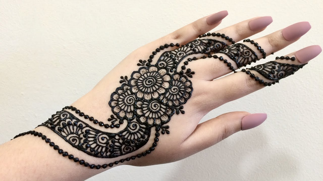 eid mehndi design simple arabic