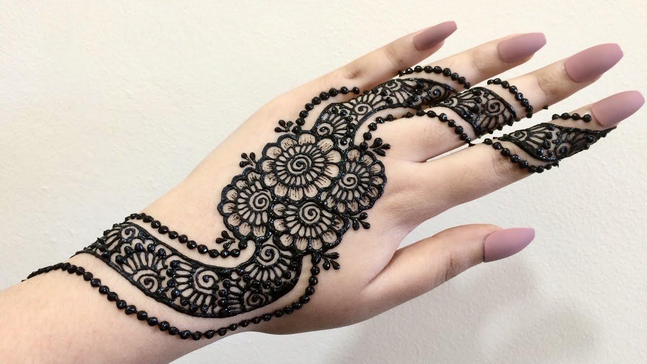 Dubai Arabic Mehndi Henna Design: EID Special Indo Arabic Arab Style Easy Simple Henna