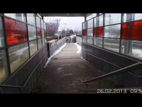 GFRC panels on WKD Stadion Railway station. Warsaw - Poland.
