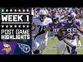 Vikings vs. Titans | NFL Week 1 Game Highlights