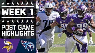 Vikings vs. Titans (Week 1) | Game Highlights | NFL