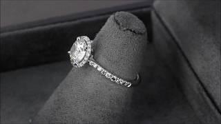 Помолвочное кольцо из белого золота с бриллиантами в стиле «Cartier Destinée» nomber 2