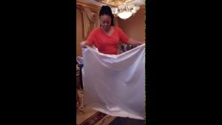 KM party rental chair cover tutorial(Our KM party chair cover tutorial., 2016-01-31T18:29:50.000Z)
