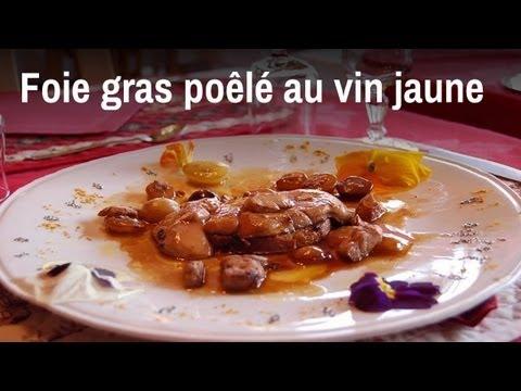 recette de chef foie gras po l au vin jaune et au miel de savoie youtube. Black Bedroom Furniture Sets. Home Design Ideas