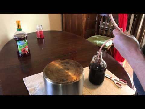 Racking Homemade Wine With A DIY Wine Siphon!!