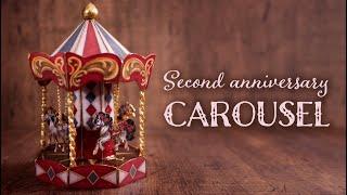 【プラバン×レジン】二周年記念 メリーゴーランド DIY 2nd anniversary Carousel [Shrink plastic x Resin]