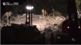 Последствия взрыва в Альканаре