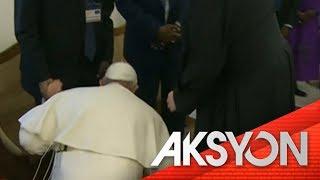 Mga paa na hinalikan ni Pope Francis