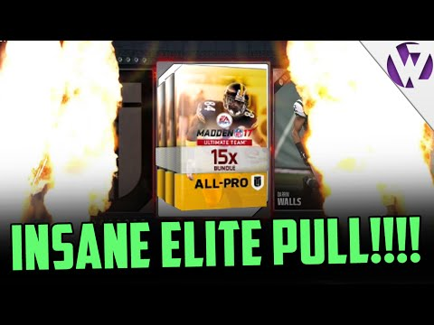 INSANE ELITE PULL! - HOW TO GET 15 ALL PRO PACKS!! - MADDEN 17 ALL PRO BUNDLE PACK OPENING