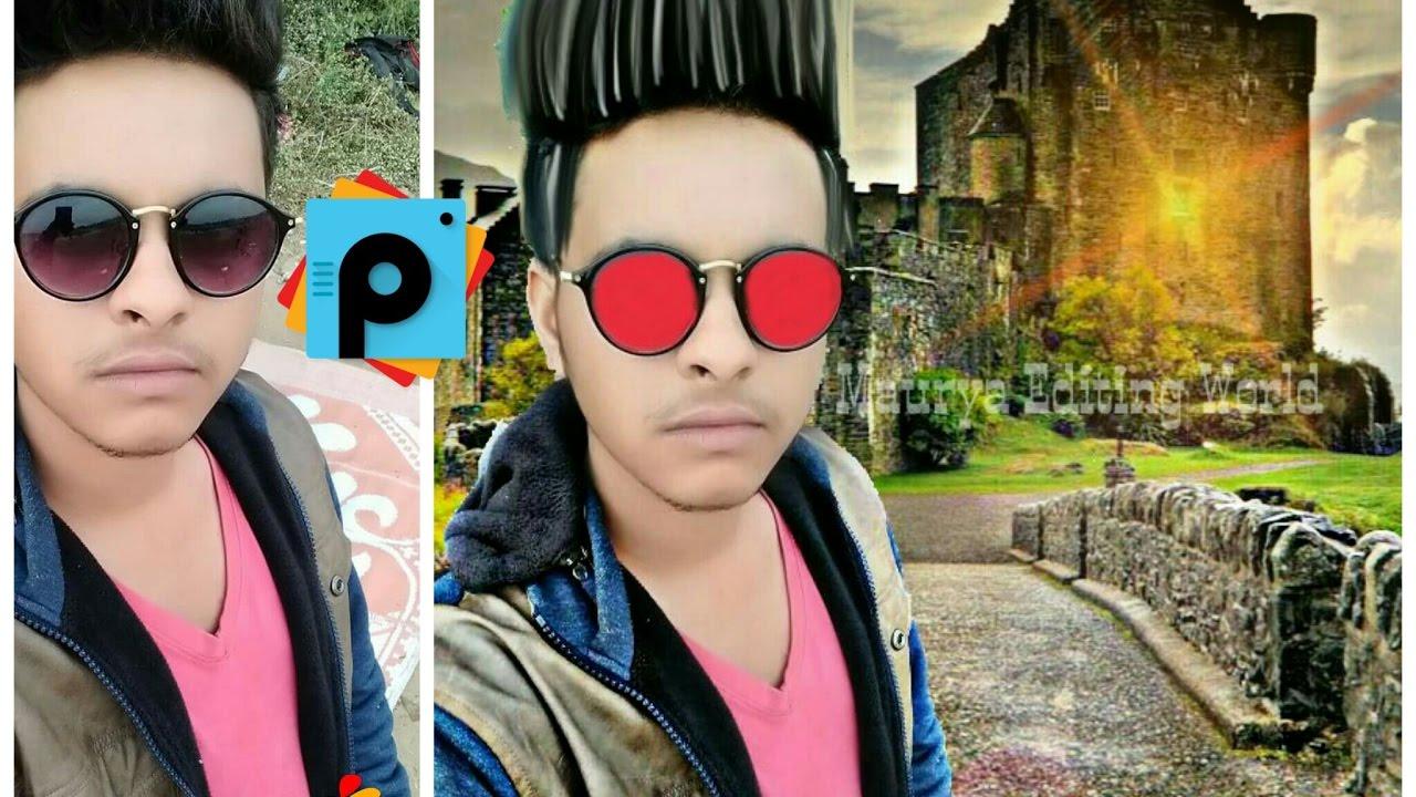 Change Background CB Change Straight Hair Style HDR Effect - Hair style change photo effect