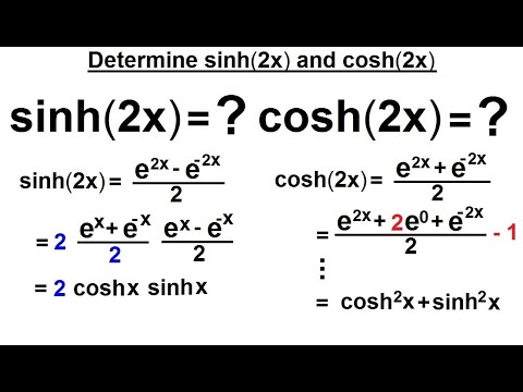 derivative of hyperbolic functions pdf