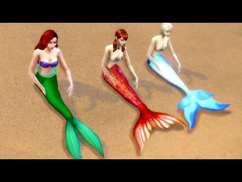 ariel-little-mermaid-&-elsa-frozen---elsa-mermaid-in-kids-pool-#4-|-the-sims-4