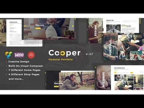 Cooper - Creative Responsive Personal Portfolio WordPress Theme | Themeforest Website Templates And