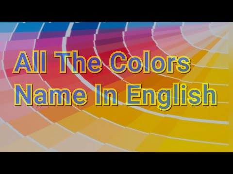 All colors name in English