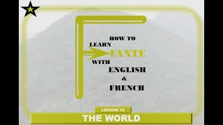 Lesson 15 - The world _ How to learn Fante with English and French.