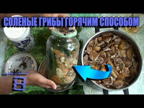 The recipe for salted mushrooms is hot