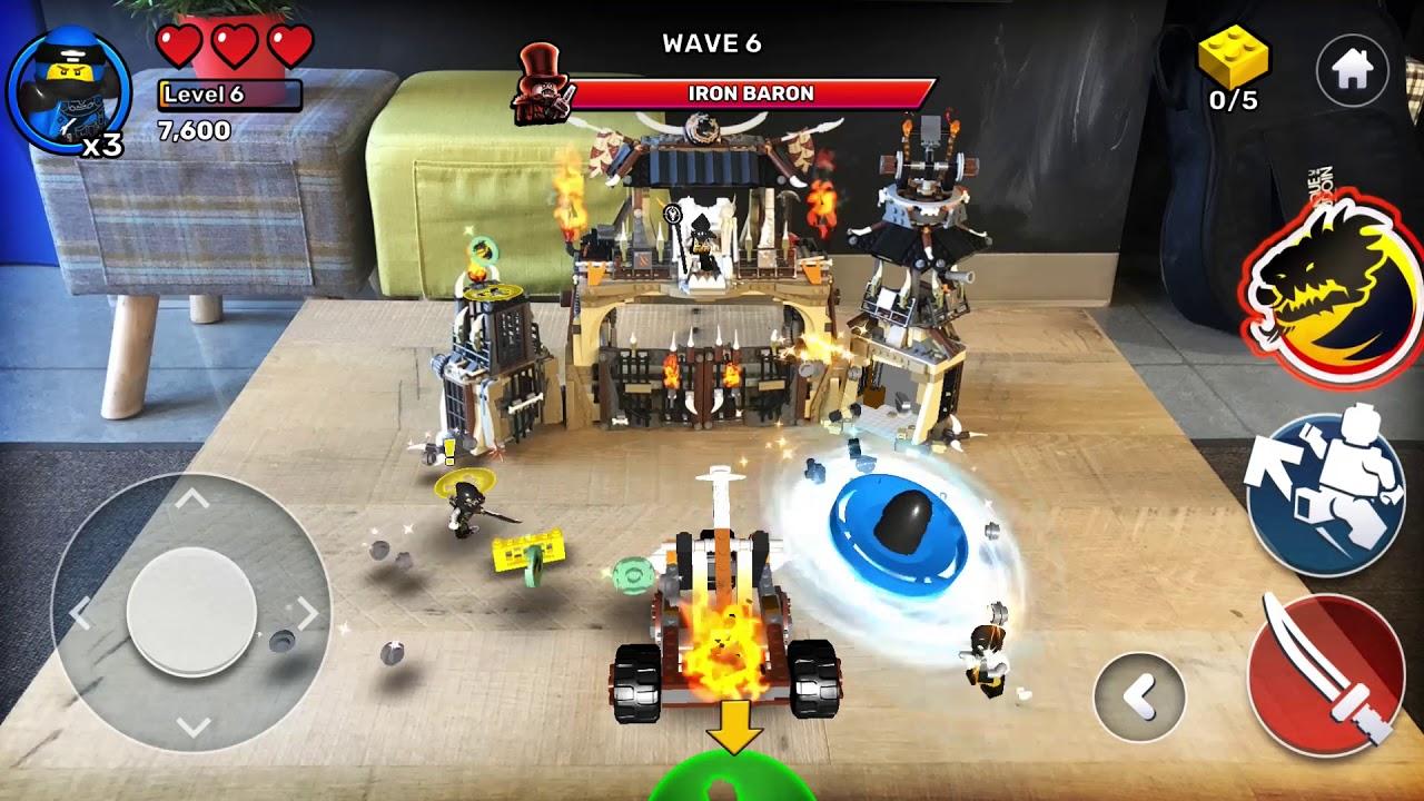 LEGO Playgrounds app NINJAGO game footage