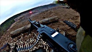 MG3 Machine Gun Firing - GoPro A Live Fire Training Exercise #24