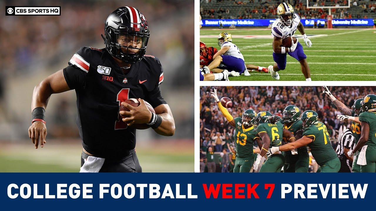 The Picks For The Best College Football Games Of Week 7 Cbs Sports Hq Youtube