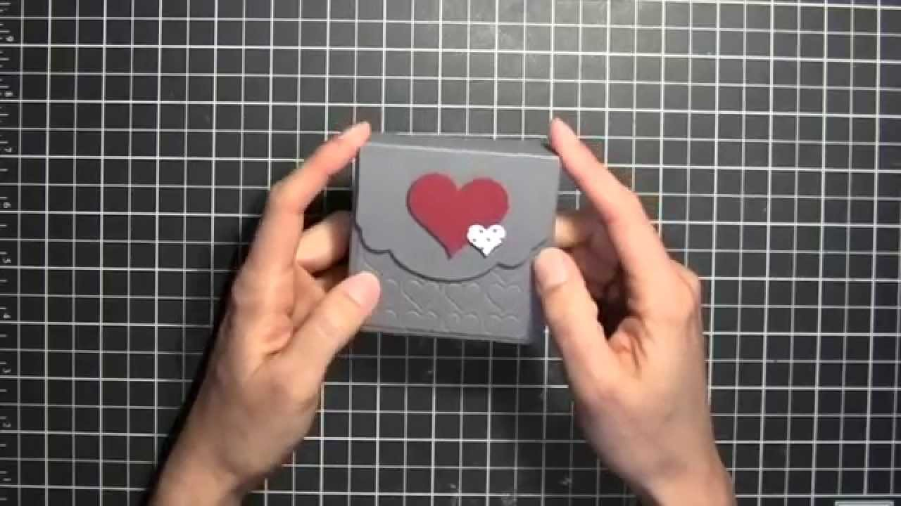 Stampin Up Valentines Card Box  YouTube