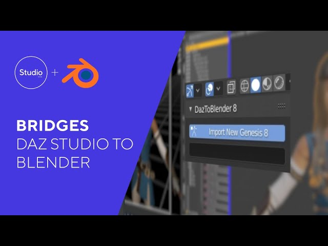Daz Bridges Tutorial - Daz to Blender