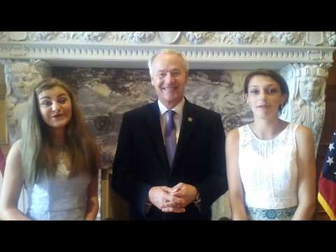 The Emily and Leia Show interviews Governor Asa Hutchinson