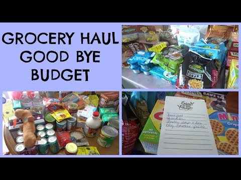 GROCERY HAUL - GOOD BYE GROCERY BUDGET