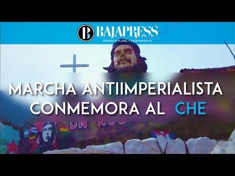 Marcha antiimperialista conmemora al  Che