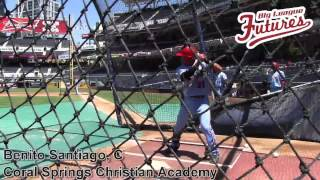 BENITO SANTIAGO PROSPECT VIDEO, CATCHER, CORAL SPRINGS CHRISTIAN ACADEMY  @BIGLEAGUEFUTURE