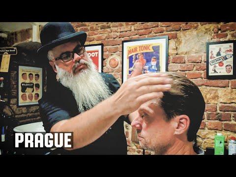The American Barber in Prague , Czech Republic