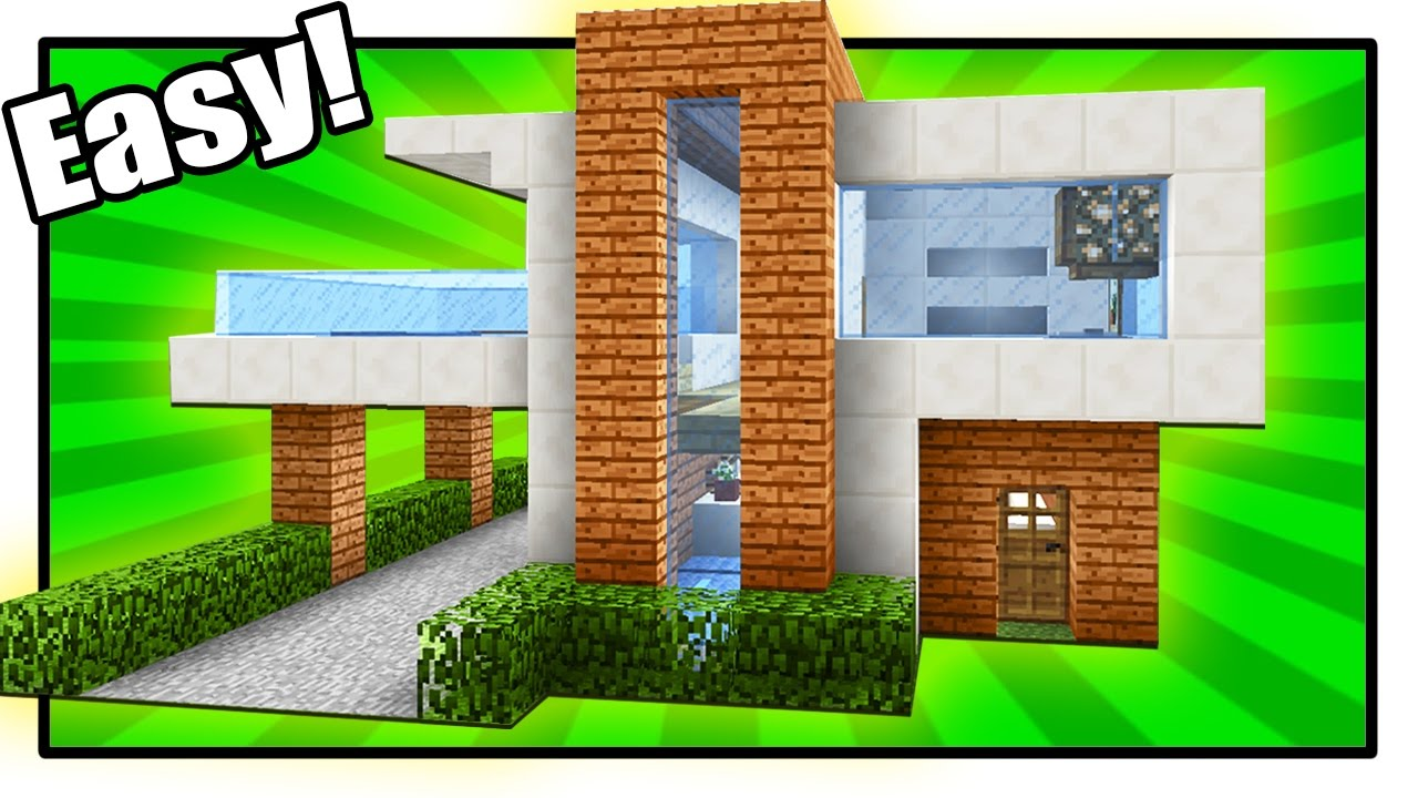 How to Build a Modern House in Minecraft - Simple & Easy ...