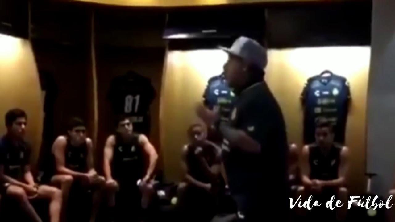 El motivador discurso de Maradona antes de su debut con Dorados • Ascenso MX 2018