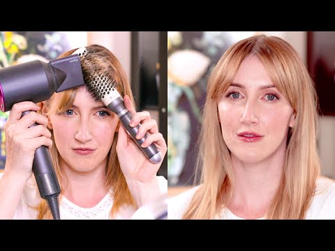 The Game-Changing Trick To Styling Curtain Bangs | Sharon Farrell