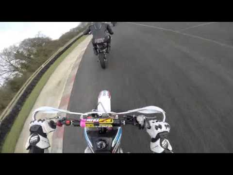 Onboard GoPro - Pit Bike Around Whilton Mill Test day 09/02/14