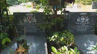 Viếng thăm 6 ngôi mộ bị sát hại ở Bình Phước ngày 7/7/2015 tại Hoa viên NT Bình Dương