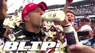 why do drivers drink milk at the indy 500? blip
