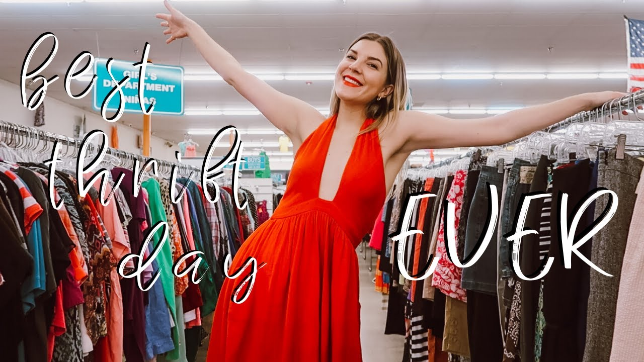 COME THRIFT WITH ME TAMPA || best thrifting day OF MY LIFE! || THRIFTED DESIGNER HANDBAG!!!!