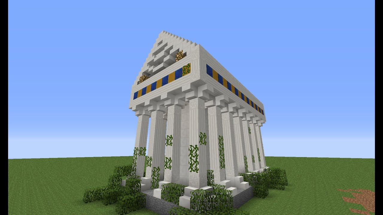 Greek Architecture Minecraft minecraft tutorial: how to build a cool greek/roman temple - youtube