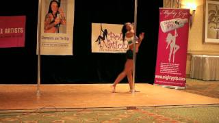 Miss Texas Pole Dance Competition 2011 - First Round - Harder to Breathe