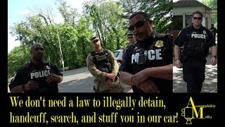 Illegally detained, handcuffed, searched- Joint Base Myer-Henderson Hall