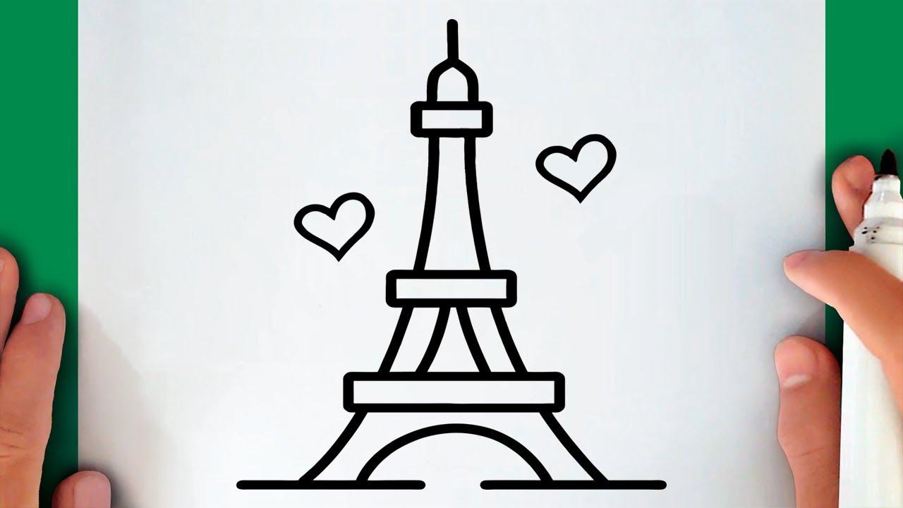 Cómo Dibujar La Torre Eiffel Paso A Paso Muy Fácil 2021 Dibuja Fácil