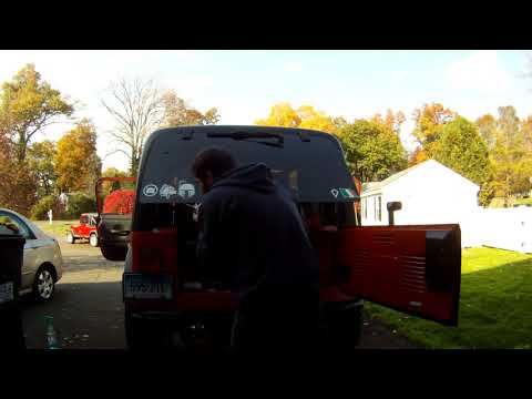 Jeep wrangler TJ hard top rear hatch retainer trim and weatherstrip replacement how to