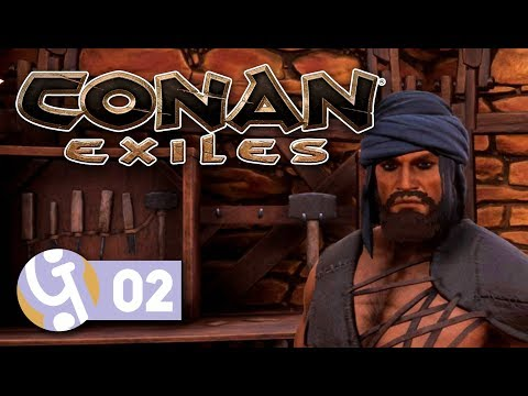 🍖 Leather Gear & Base Work | Let's Play Conan Exiles #02