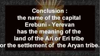 Etymology of the Names EREBUNI and YEREVAN