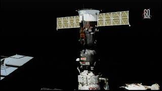 Soyuz MS-08 Undocking, Flyaround, & Landing (time lapse)