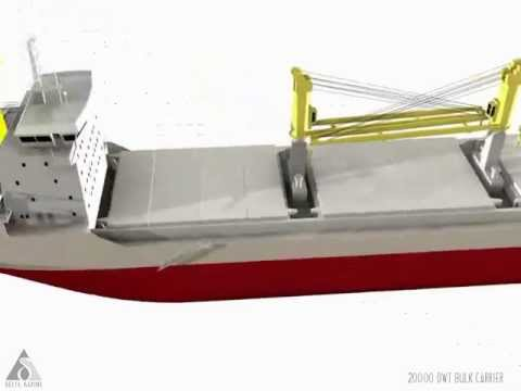 20000 DWT Bulk Carrier Animation